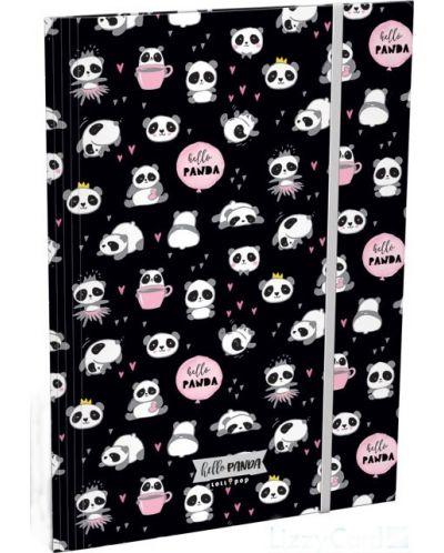 Mapa cu elastic Lizzy Card A4 - Hello Panda, Lollipop - 1