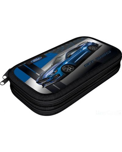 Penar scolar Lizzy Card - Ford Mustang GT, cu 2 compartimente - 1