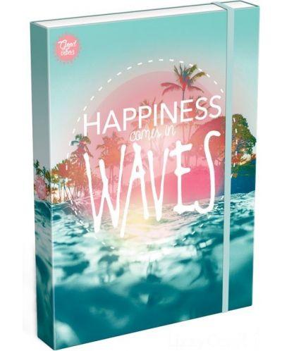 Cutie cu elastic Lizzy Card A4 – Wave, Good Vibes - 1