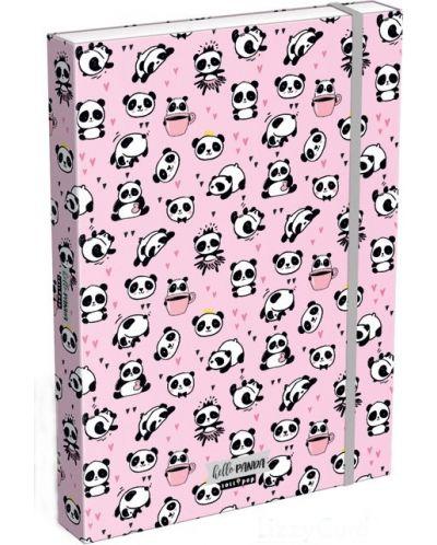 Cutie cu elastic Lizzy Card A4 –Hello Panda, Lollipop - 1
