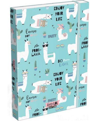 Cutie cu elastic Lizzy Card A4 –Lama LOL, Lollipop - 1