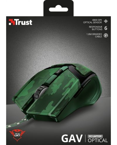 Mouse gaming Trust - GXT 101D Gav, jungle camo - 5