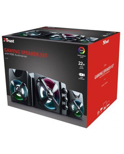 Sistem audio Trust - Ziva, RGB, 2.1, negru - 6