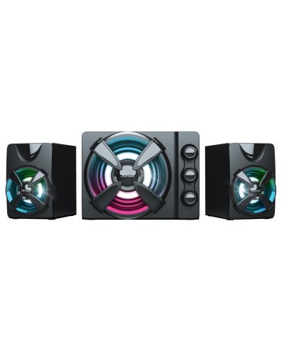 Sistem audio Trust - Ziva, RGB, 2.1, negru - 2