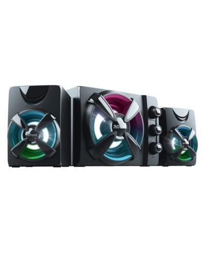 Sistem audio Trust - Ziva, RGB, 2.1, negru - 1