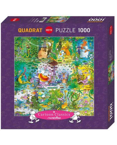 Puzzle patrat Heye de 1000 piese - Viata salbatica, Guillermo Mordillo - 1