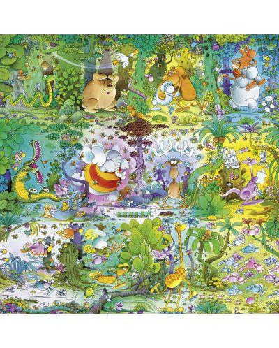 Puzzle patrat Heye de 1000 piese - Viata salbatica, Guillermo Mordillo - 2