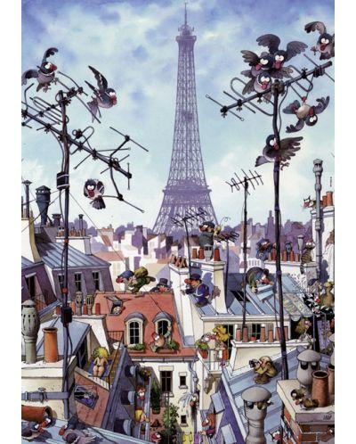 Puzzle Heye de 1000 piese - Turnul Eiffel, Jean-Jacques Loup - 2