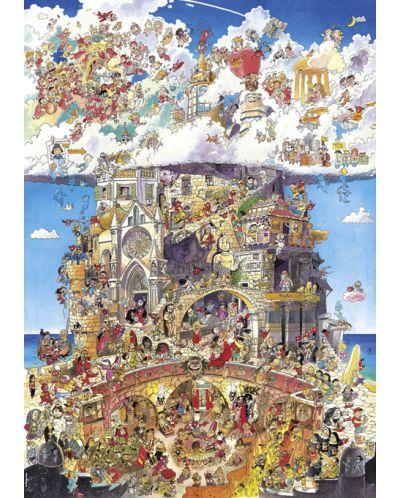 Puzzle Heye de 1500 piese - Iad si rai, Hugo Prades - 2