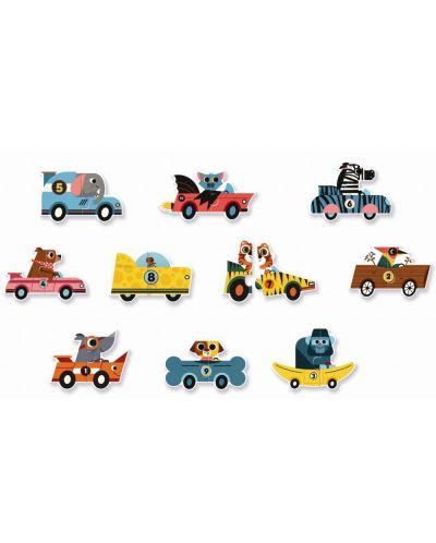 Puzzle educativ Djeco Duo din 20 de piese - Masini de curse - 2