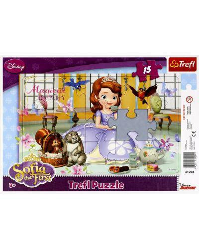 Puzzle Trefl de 15 piese - Party ceaiul Sofiei  - 2