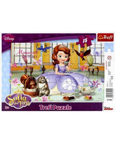 Puzzle Trefl de 15 piese - Party ceaiul Sofiei  - 1