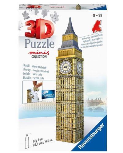 Puzle 3D Ravensburger de 54 piese - Mini Big Ben - 1