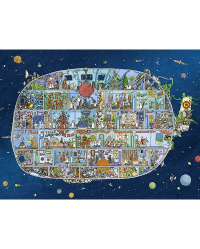 Puzzle Heye de 1500 piese - Nava spatiala, Matthias Adolfson - 2