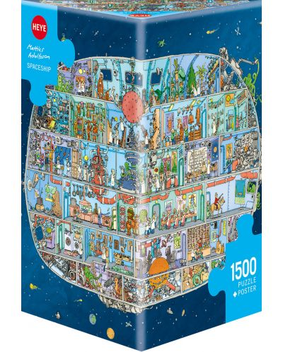 Puzzle Heye de 1500 piese - Nava spatiala, Matthias Adolfson - 1