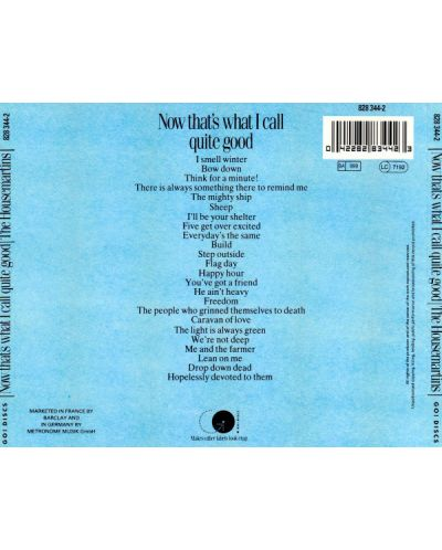 The Housemartins - Now That's What I Call Quite Good (CD) - 2