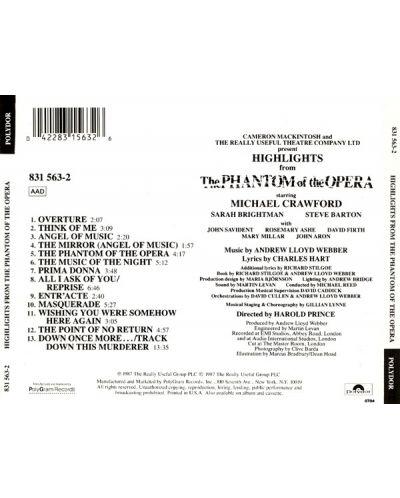 The Original London Cast - Highlights From Phantom Of The Opera (CD) - 2