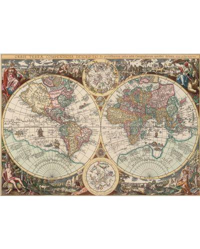 Puzzle Art Puzzle de 260 piese - Harta lumii, Alberto Rosini - 2