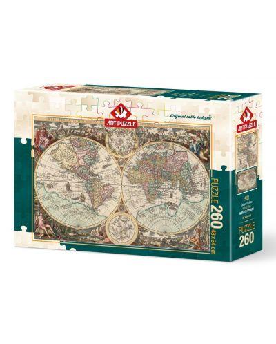 Puzzle Art Puzzle de 260 piese - Harta lumii, Alberto Rosini - 1