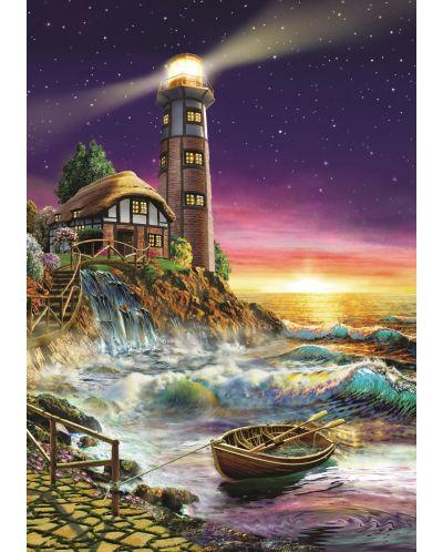 Puzzle Art Puzzle de 500 piese - Apus de soarela far, Adrian Chesterman - 2