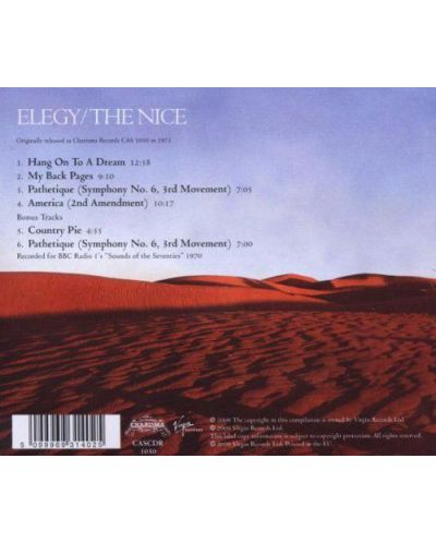 The Nice - Elegy (CD) - 2