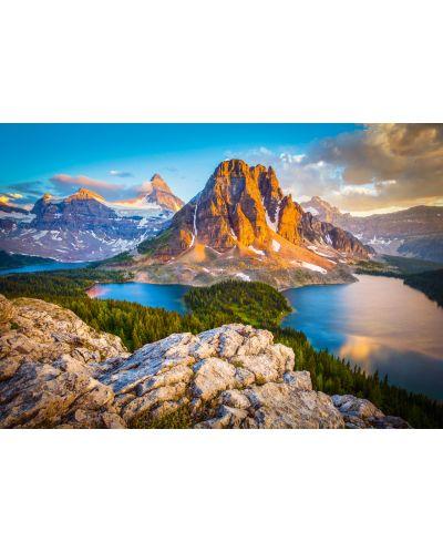 Puzzle Castorland de 1000 piese - Vedere in Assiniboine in Parcul natonal Banaf, Canada - 2