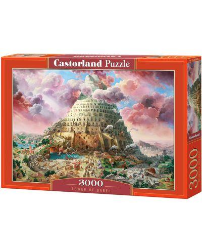 Puzzle Castorland de 3000 piese - Turnul Babel  - 1