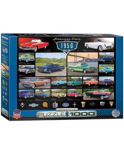 Puzzle Eurographics de 1000 piese – Autoturisme clasice din anul 1950  - 1