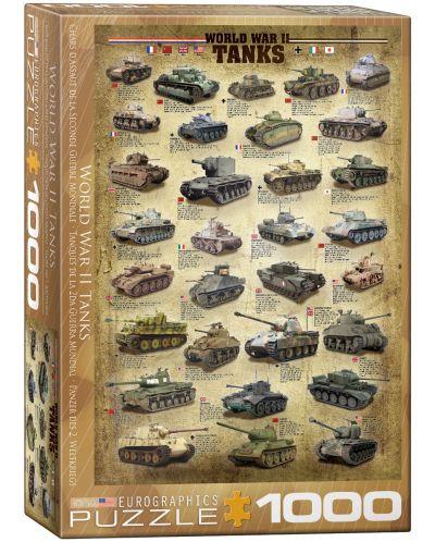 Puzzle Eurographics de 1000 piese – Tancuri din timpul celui de-al doilea razboi mondial  - 1