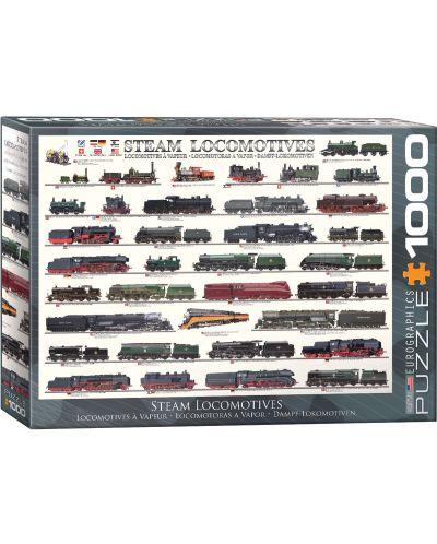 Puzzle Eurographics de 1000 piese – Locomotive cu abur - 1