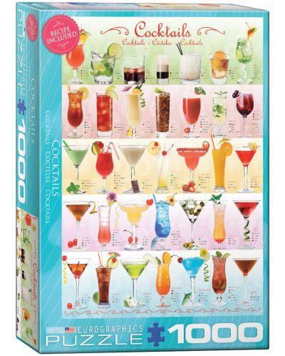 Puzzle Eurographics de 1000 piese – Cocktail-uri - 1