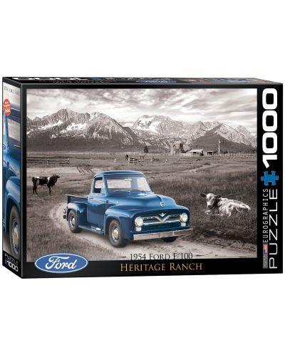 Puzzle Eurographics de 1000 piese – Autoturisme clasice  Ford din anul 1954 - 1