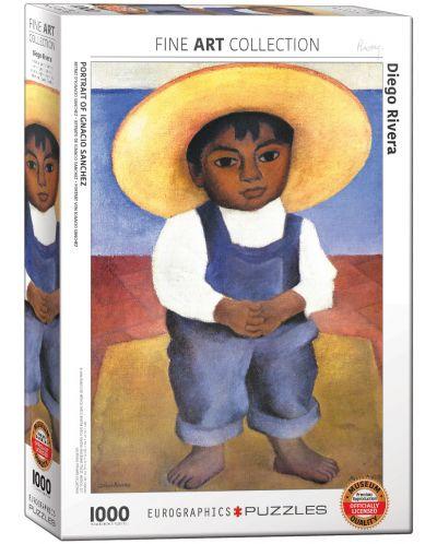 Puzzle Eurographics de 1000 piese – Portretul lui Ignacio Sanchez, Diego Roivera - 1