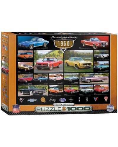 Puzzle Eurographics de 1000 piese – Autoturisme clasice din anul 1960  - 1