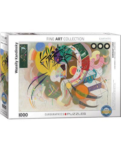 Puzzle Eurographics de 1000 piese – Curba dominanta, Wassily Kandinsky - 1