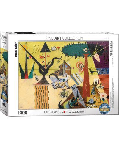 Puzzle Eurographics de 1000 piese – Campuri arate, Joan Miro - 1