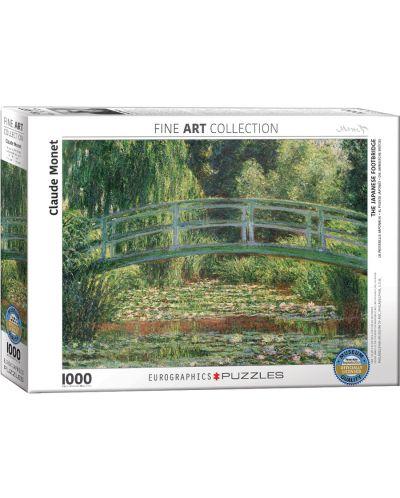 Puzzle Eurographics de 1000 piese – Pod japonez/Nuferi, Claude Monet - 1