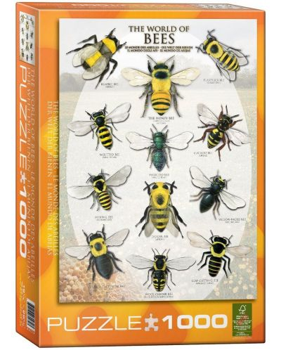 Puzzle Eurographics de 1000 piese – Lumea albinelor - 1