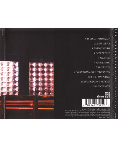 The Maccabees - Marks To Prove It (CD) - 2