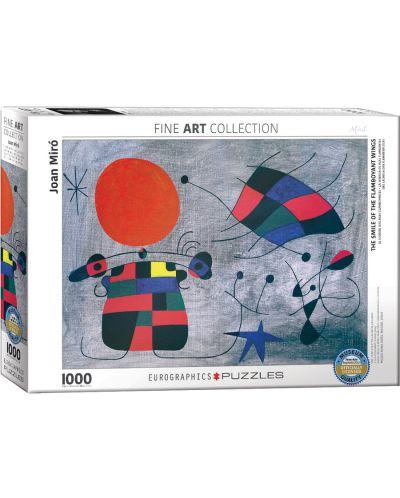 Puzzle Eurographics de 1000 piese – Zambetul aripilor rebele, Joan Miro - 1