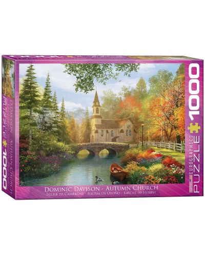 Puzzle Eurographics de 1000 piese – Biserica toamna, Dominic Davison - 1