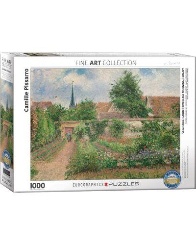 Puzzle Eurographics de 1000 piese – Gradina de legume, copaci infloriti, primavara, Camille Pizarro - 1