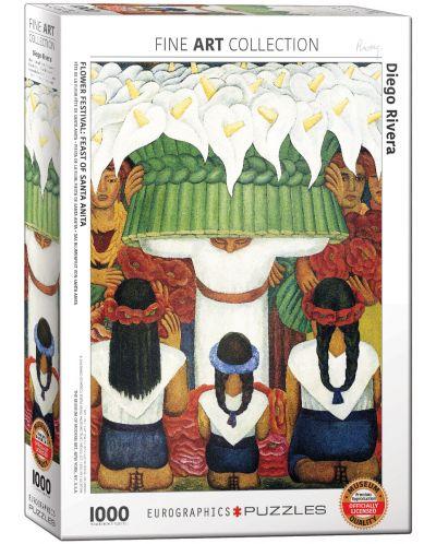 Puzzle Eurographics de 1000 piese – Festivalul florilor, Diego Rivera - 1