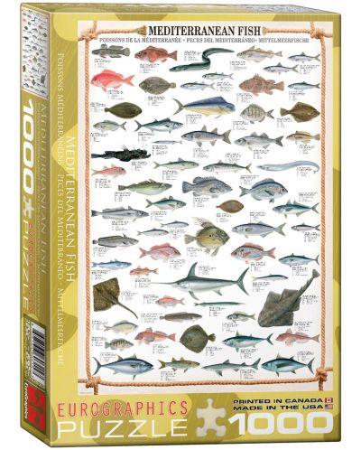 Puzzle Eurographics de 1000 piese – Pestii mediteraneeni - 1