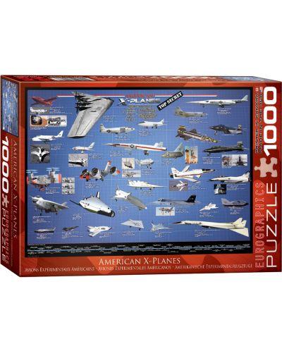 Puzzle Eurographics de 1000 piese – Aviatia americana experimentala  - 1