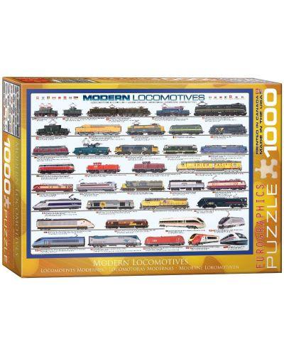 Puzzle Eurographics de 1000 piese – Locomotive contemporane - 1