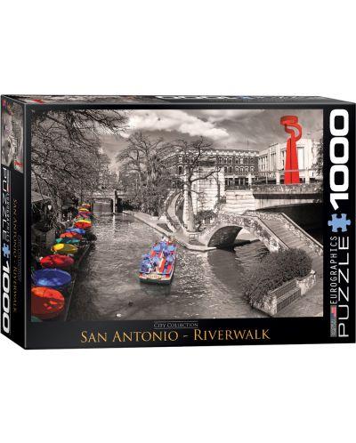 Puzzle Eurographics de 1000 piese – River Wok, San Antonio - 1