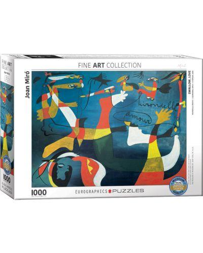 Puzzle Eurographics de 1000 piese – Iubire amara, Joan Miro - 1