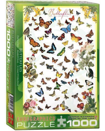 Puzzle Eurographics de 1000 piese – Fluturi - 1