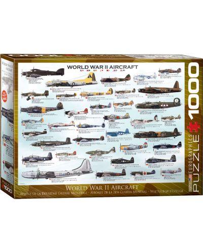 Puzzle Eurographics de 1000 piese – Avioane militare din al doilea razboi mondial  - 1
